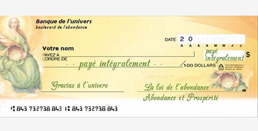 le chèque d'abondance de novembre