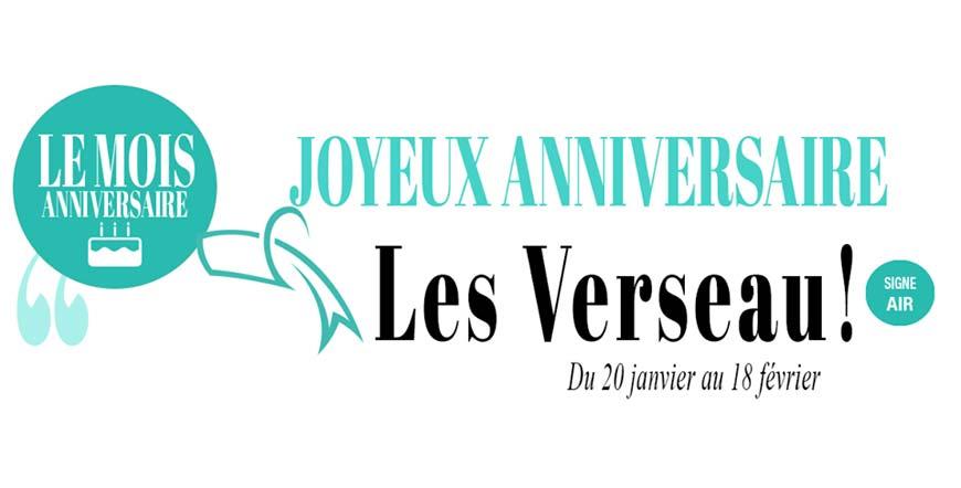 Joyeux anniversaire les Verseau